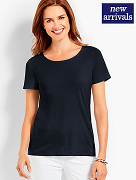 Pima Cotton Tie-Back Tee