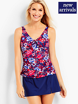 Floral Tie-Detail Tankini Top