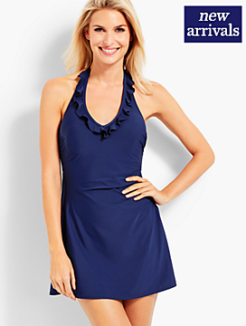 Ruffle-Halter Swim Dress - Miraclesuit®