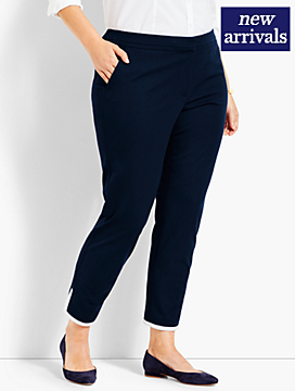 Tipped Bi-Stretch Slim Ankle Pant