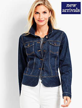 Peplum Denim Jacket - Leeward Wash