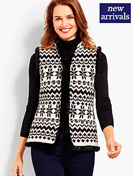 Artic Fair Isle Quilted Vest