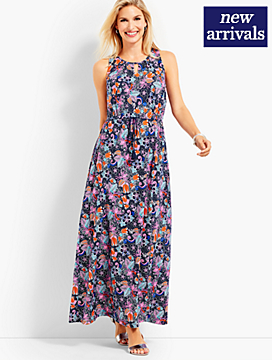 Botanical Floral Maxi Dress