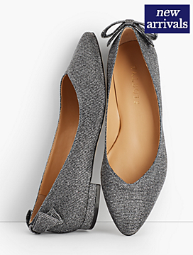 Edison Lurex® Bow-Back Flats
