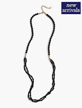 Long Double-Strand Seed-Bead Necklace