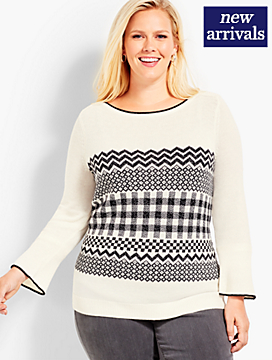 Fair Isle Lurex® Sweater