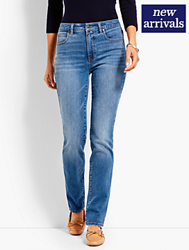 High-Rise Denim Straight-Leg - True Blue