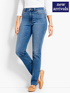 High-Rise Denim Straight-Leg - Curvy Fit/True Blue