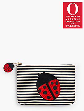 O, The Oprah Magazine Collection for Talbots Stripe Yarn-Dyed Clutch