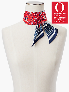 O, The Oprah Magazine Collection for Talbots Ladybug Hearts Mini Scarf