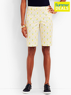"10 1/2"" Lemon & Dots Bermuda Short"