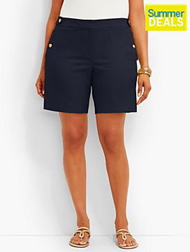 Woman Exclusive Gold-Button Short