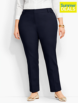 Talbots Hampshire Ankle Pant-Curvy Fit/Double-Weave