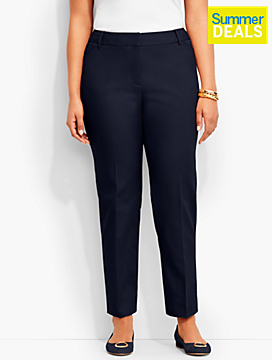 Talbots Hampshire Ankle Pant-Double-Weave
