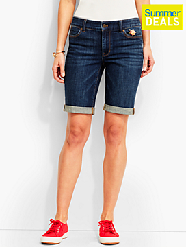 The Flawless Five-Pocket Boyfriend Short-Leeward Wash