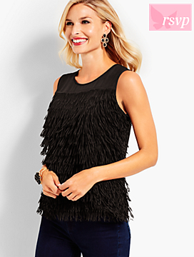Social Butterfly Fringe Top