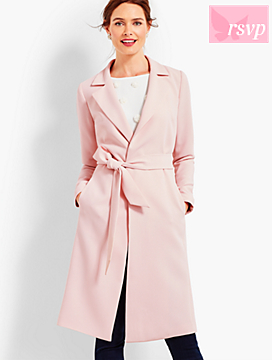 Refined Crepe Trench Coat