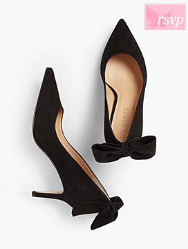 Erica Back-Bow Suede Pump