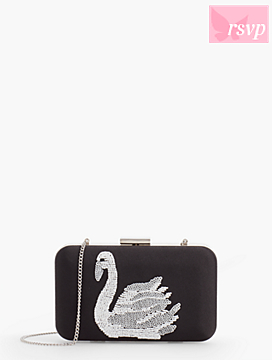 Swan Embroidered Minaudire