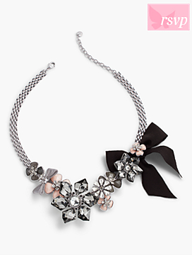 Enamel Flower Link-Chain Necklace