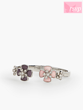Enamel Flower Bangle