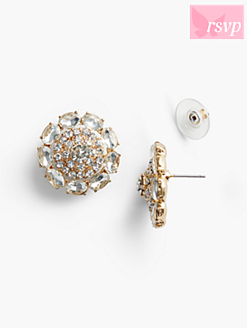 Sparkling Crystal Stud Earrings