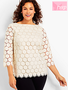 Hexagon Lace Top