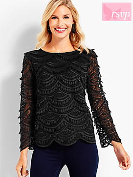 Eyelet Fringe Lace Top