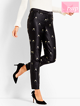 Cheers Jacquard Tailored Ankle Pant