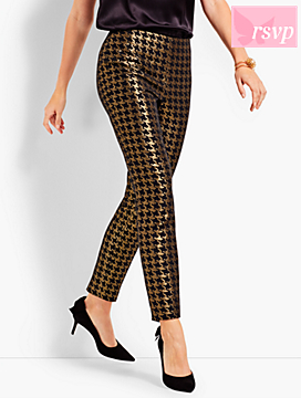 Houndstooth Sparkle Ankle Pant