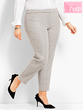 Womans Exclusive Sparkle Tweed Ankle Pant