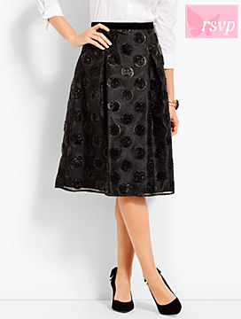 Lurex® Clip Dot Full Skirt