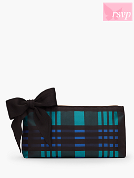 Plaid Bow Clutch