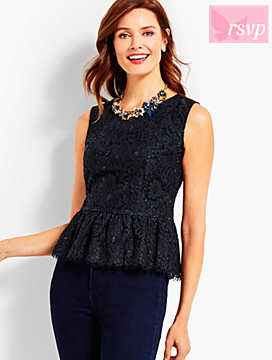 Lace Peplum Shell