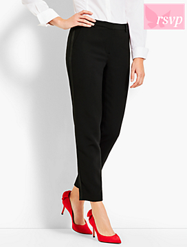 Refined Crepe Tuxedo Slim Ankle Pant