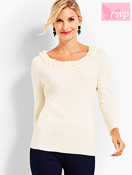 Sequin-Embellished Pullover