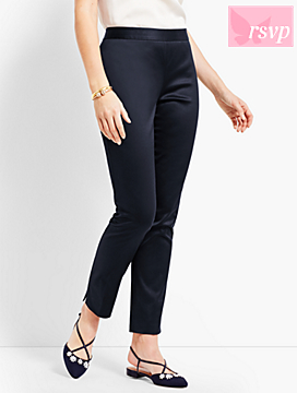 Sateen Slim Ankle Pant