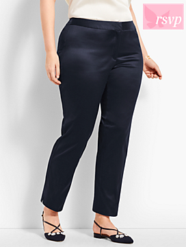 Womans Exclusive Sateen Slim Ankle Pant