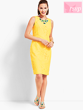 Leaf-Lace Sheath Dress