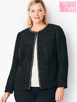 Tweed Sequin & Pearl Jacket