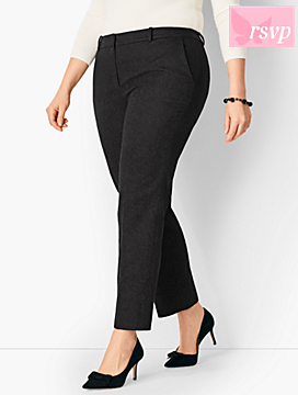 Tailored Jacquard Slim Ankle Pant