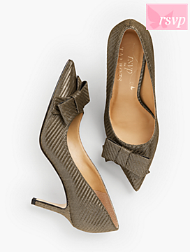 Erica Bow-Detail Pumps - Lurex®