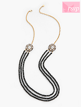 Polka Nights Long Bead Necklace