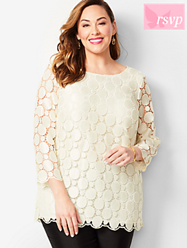 Opulent Dot Lace Top