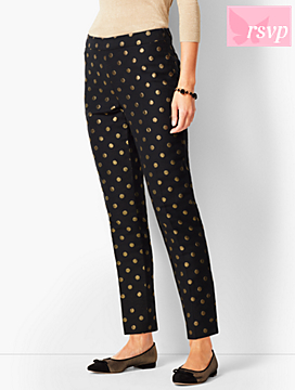 Talbots Chatham Ankle Pants - Foil Dots