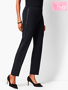 Refined Crepe Slim Ankle Pants