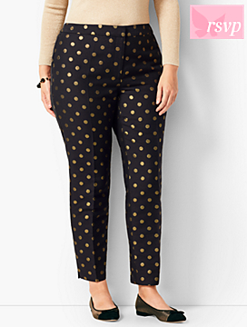Talbots Hampshire Ankle Pants - Foil Dots