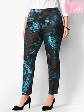 Talbots Hampshire Ankle Pants - Painted Floral