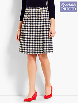Houndstooth Check Sailor Skirt
