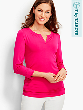 UPF 50+ Side-Ruched Tee